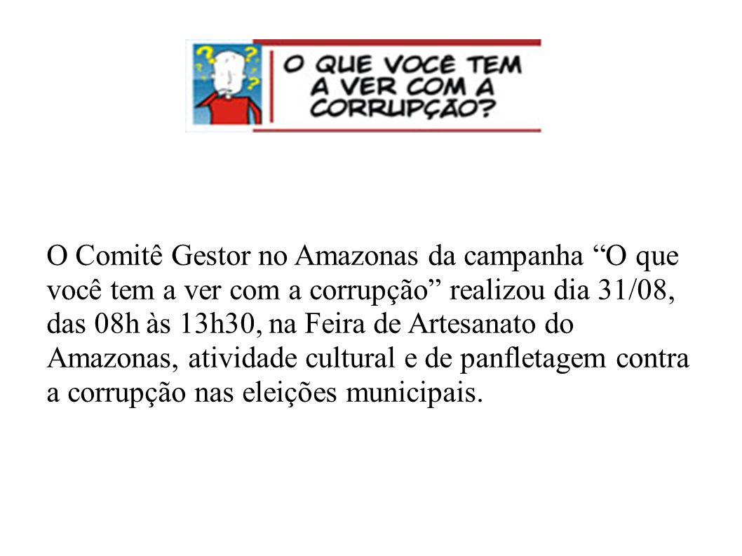 Dia 15 de agosto foi lançado o projeto O que você tem a ver com a corrupção?, no auditório do Ministério Público Estadual.