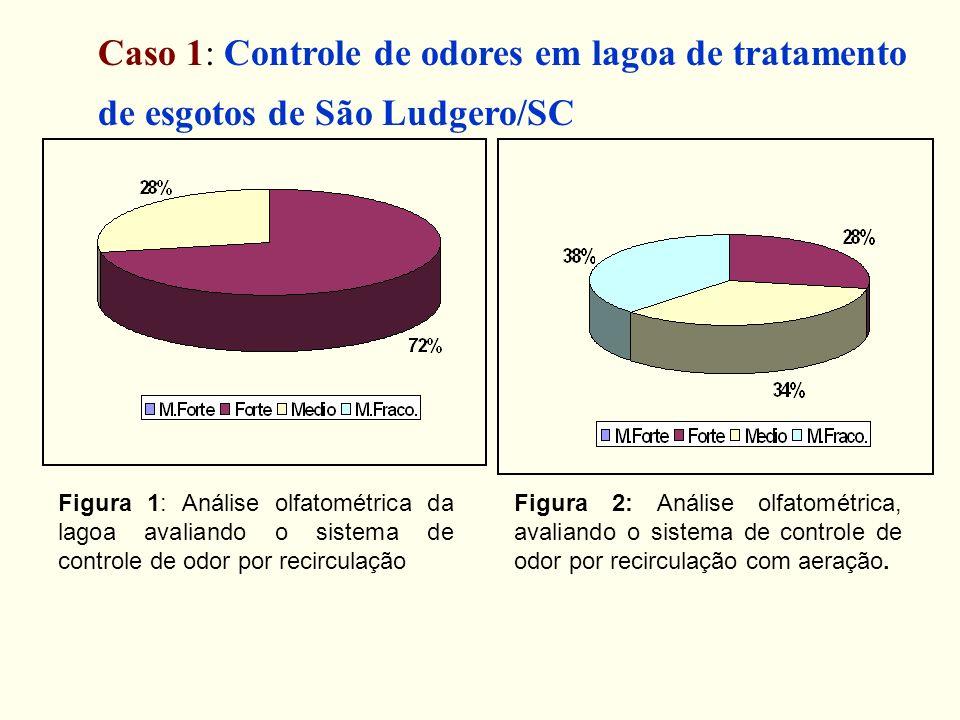 Figura 1: Análise olfatométrica da lagoa avaliando o sistema de controle de odor por recirculação Figura 2: Análise olfatométrica, avaliando o sistema
