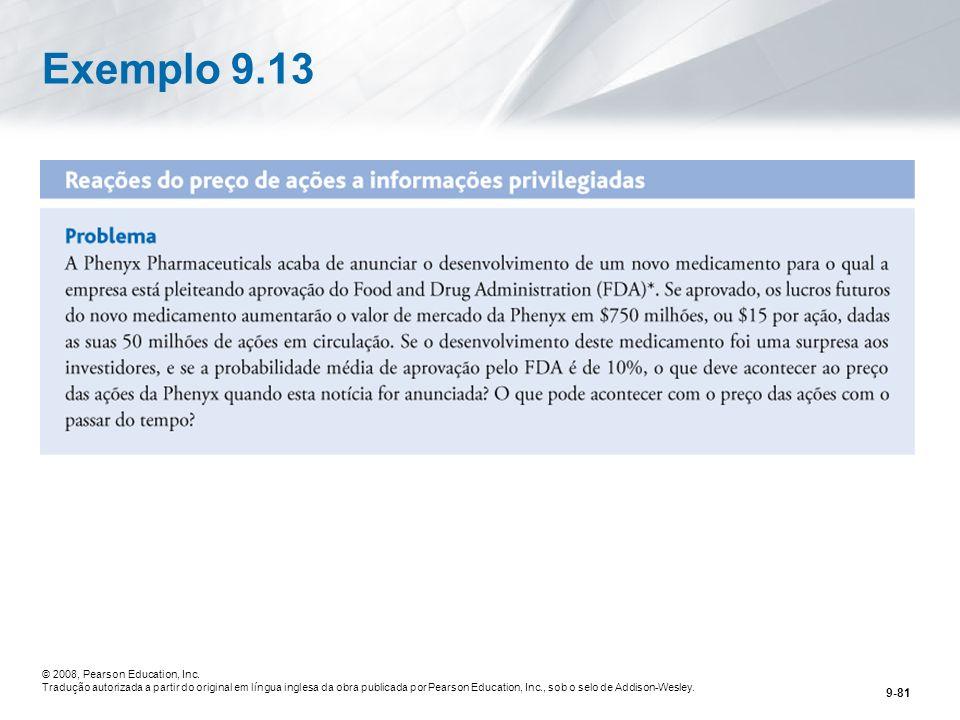 9-81 © 2008, Pearson Education, Inc.