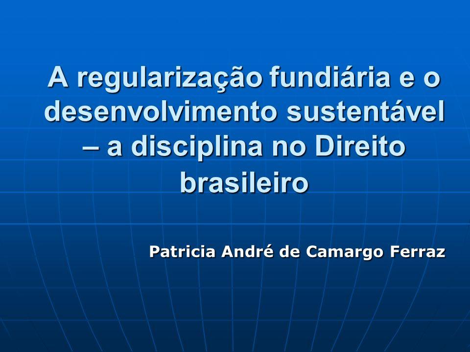 A regularização fundiária e o desenvolvimento sustentável – a disciplina no Direito brasileiro Patricia André de Camargo Ferraz