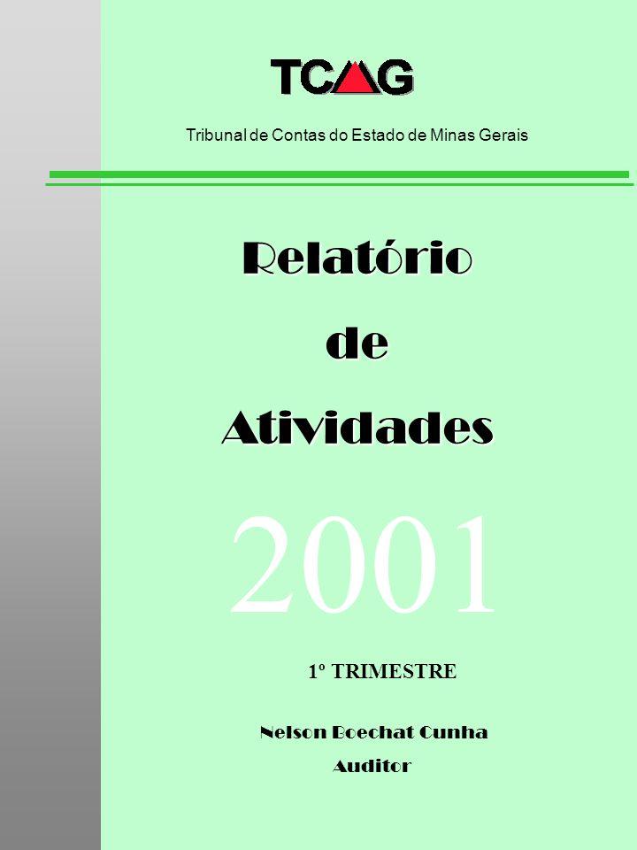 Secretaria Geral de Controle Externo - TCU RelatóriodeAtividades Tribunal de Contas do Estado de Minas Gerais 2001 1º TRIMESTRE