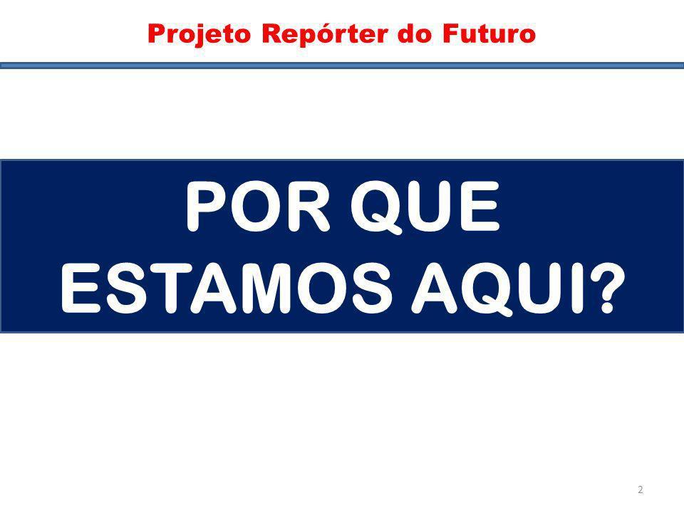 Pergunta Projeto Repórter do Futuro POR QUE ESTAMOS AQUI? 2