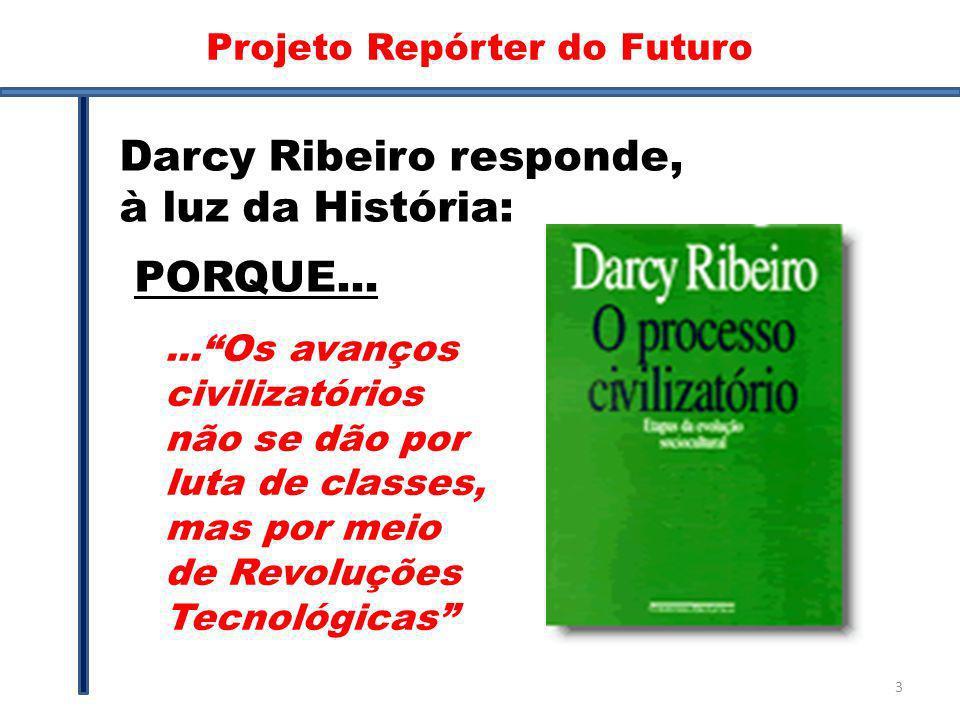 Darcy Darcy Ribeiro responde, à luz da História:...Os avanços civilizatórios não se dão por luta de classes, mas por meio de Revoluções Tecnológicas P