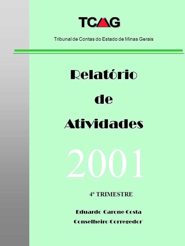 Eduardo Carone Costa Conselheiro Corregedor RelatóriodeAtividades Tribunal de Contas do Estado de Minas Gerais 2001 4º TRIMESTRE