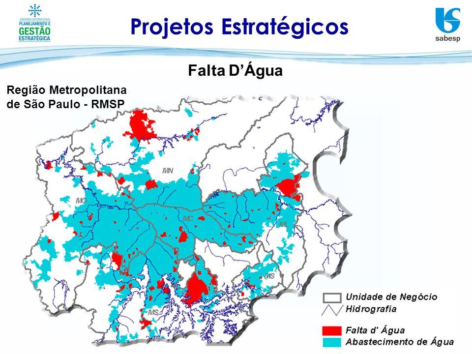 Região Metropolitana de São Paulo - RMSP Projetos Estratégicos Falta DÁgua