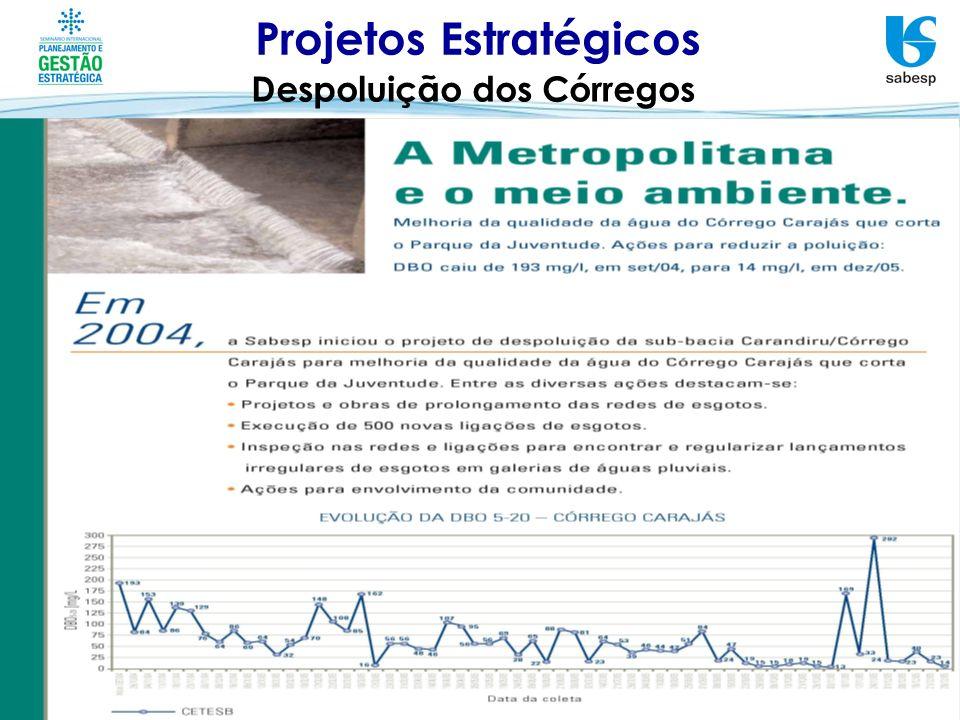 Projetos Estratégicos Despoluição dos Córregos