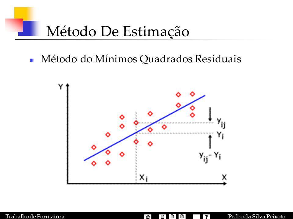 Pedro da Silva PeixotoTrabalho de Formatura Método De Estimação Método do Mínimos Quadrados Residuais