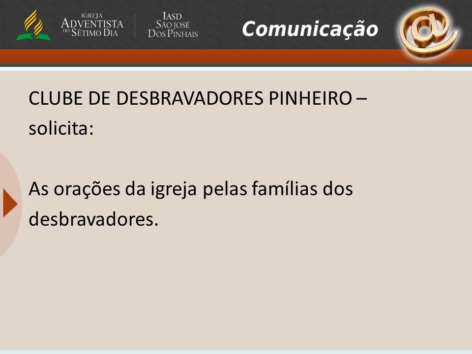 AVENTUREIROS AMANHÃ – 26/06 Não haverá reunião do clube em função do feriado.