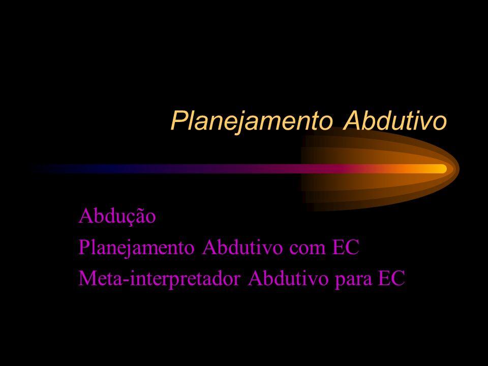Planejamento Abdutivo Abdução Planejamento Abdutivo com EC Meta-interpretador Abdutivo para EC