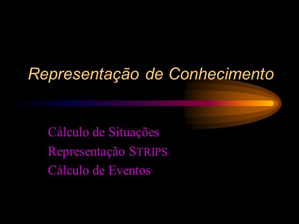 Representação de Conhecimento Cálculo de Situações Representação S TRIPS Cálculo de Eventos