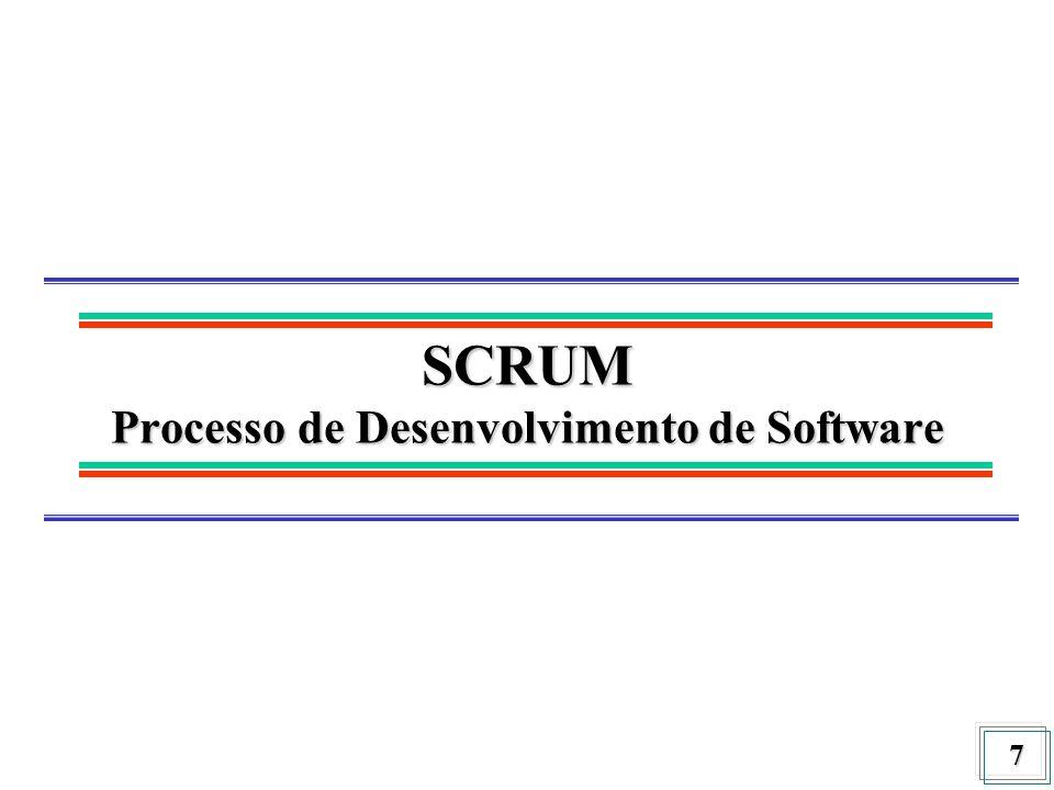 7 SCRUM Processo de Desenvolvimento de Software