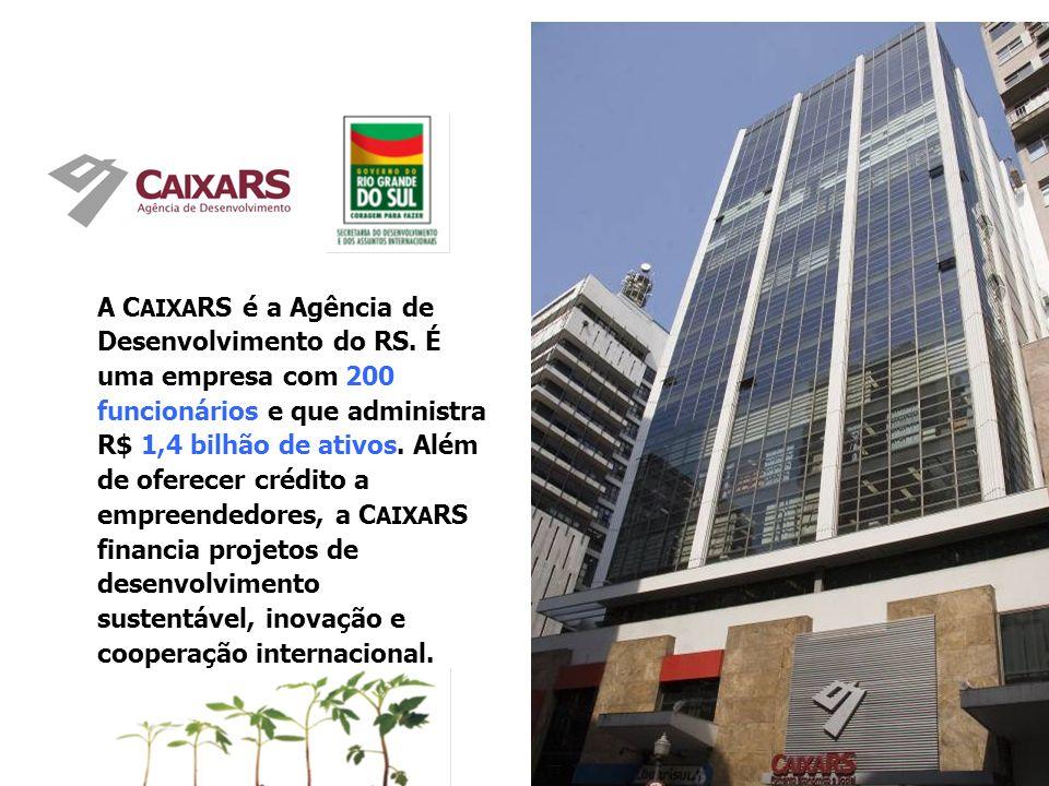 A C AIXA RS é a Agência de Desenvolvimento do RS.