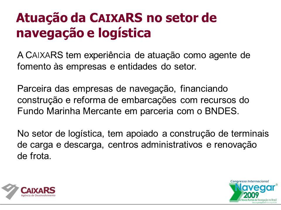 A C AIXA RS tem experiência de atuação como agente de fomento às empresas e entidades do setor.