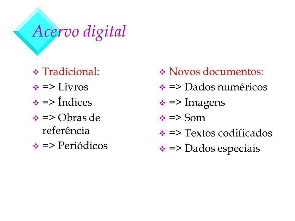 Acervo digital v Tradicional: v => Livros v => Índices v => Obras de referência v => Periódicos v Novos documentos: v => Dados numéricos v => Imagens