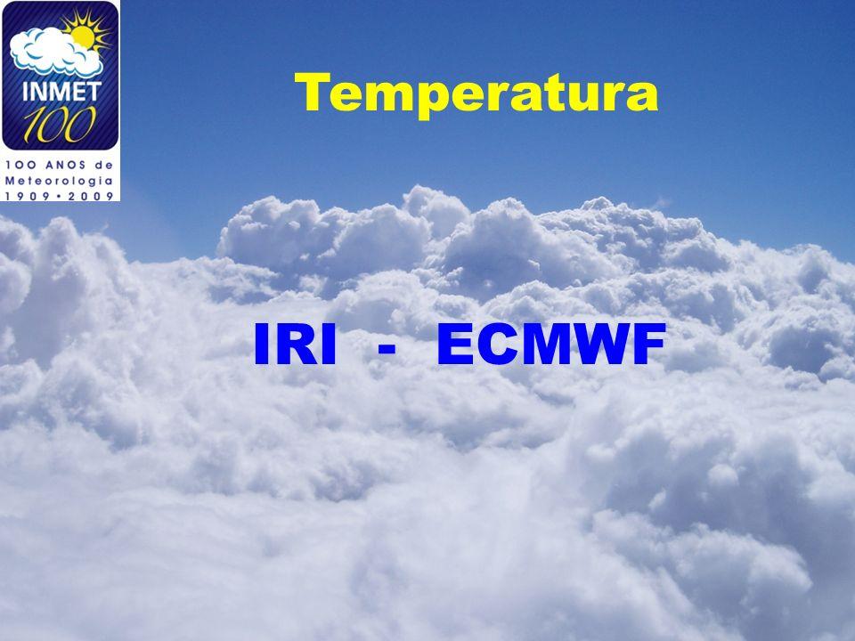 Temperatura IRI - ECMWF