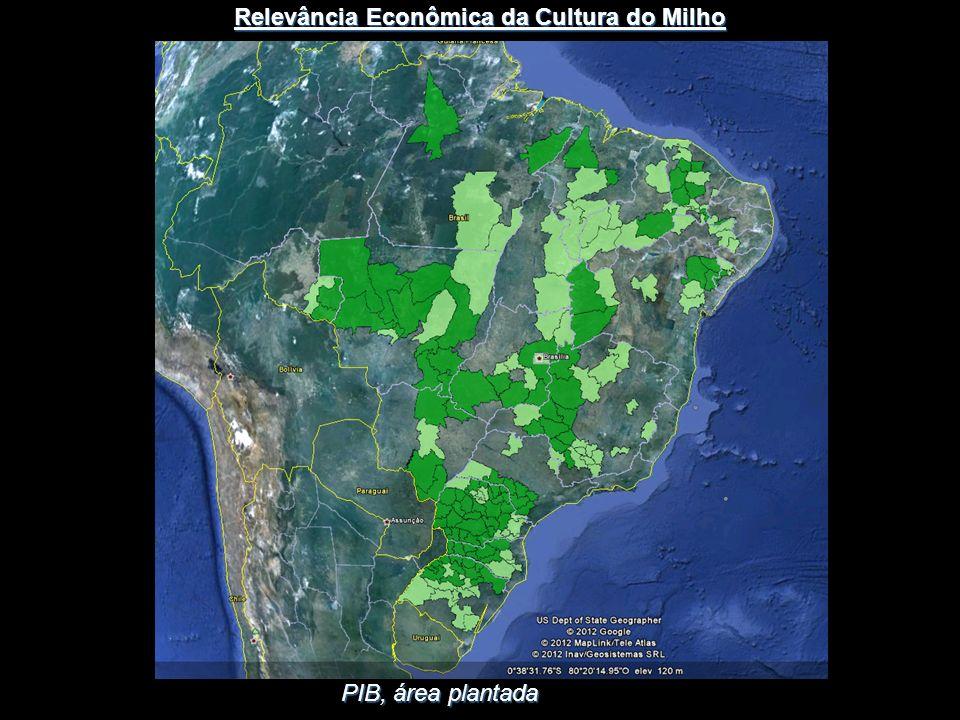 PIB, área plantada Relevância Econômica da Cultura do Milho