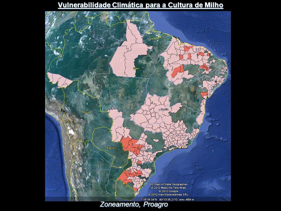 Zoneamento, Proagro Vulnerabilidade Climática para a Cultura de Milho