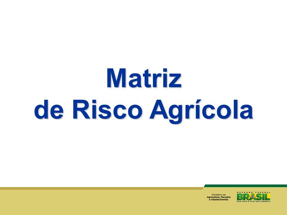 Matriz de Risco Agrícola