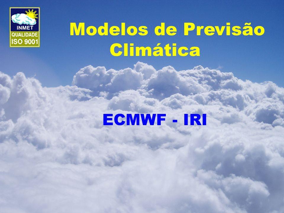 Modelos de Previsão Climática ECMWF - IRI