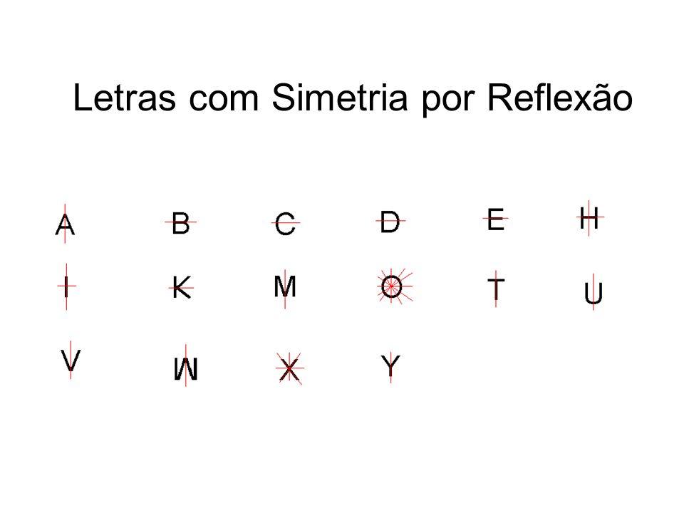 Letras com Simetria por Reflexão