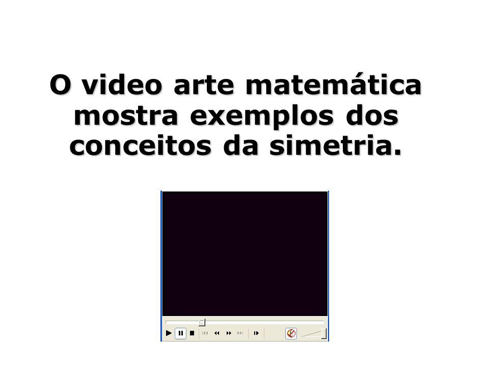 O video arte matemática mostra exemplos dos conceitos da simetria.