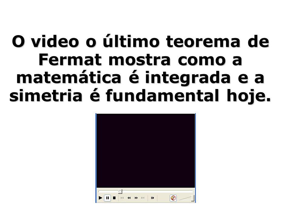 O video o último teorema de Fermat mostra como a matemática é integrada e a simetria é fundamental hoje.