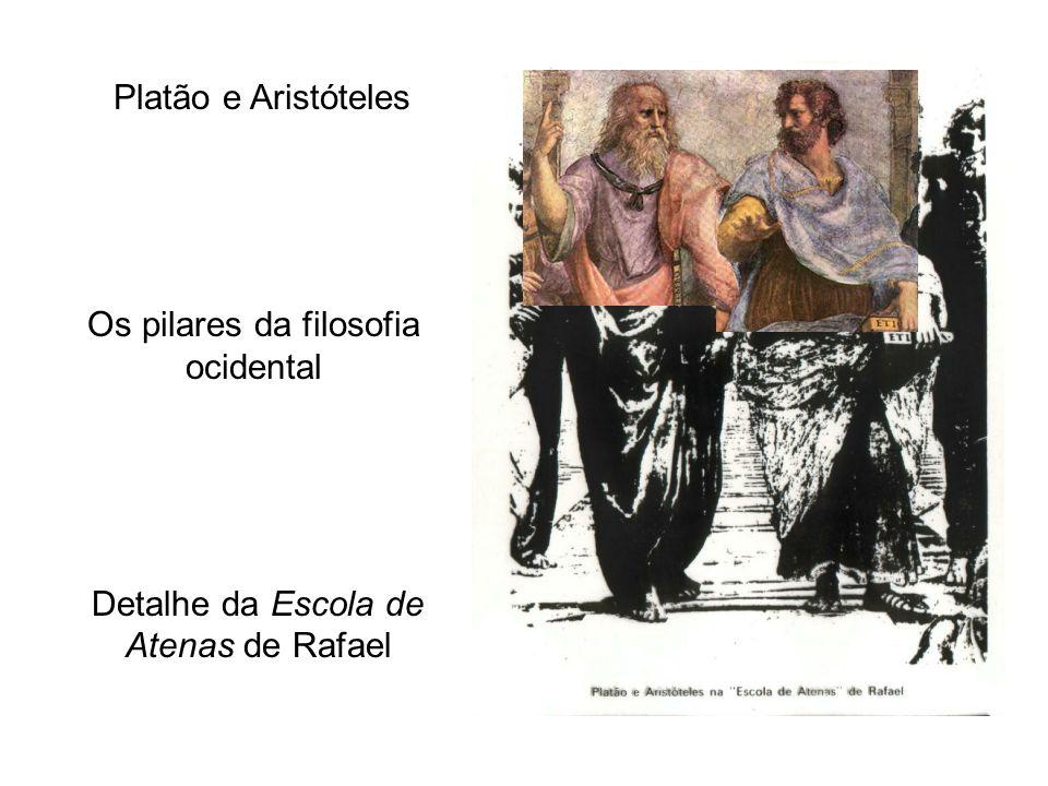 Platão e Aristóteles Os pilares da filosofia ocidental Detalhe da Escola de Atenas de Rafael
