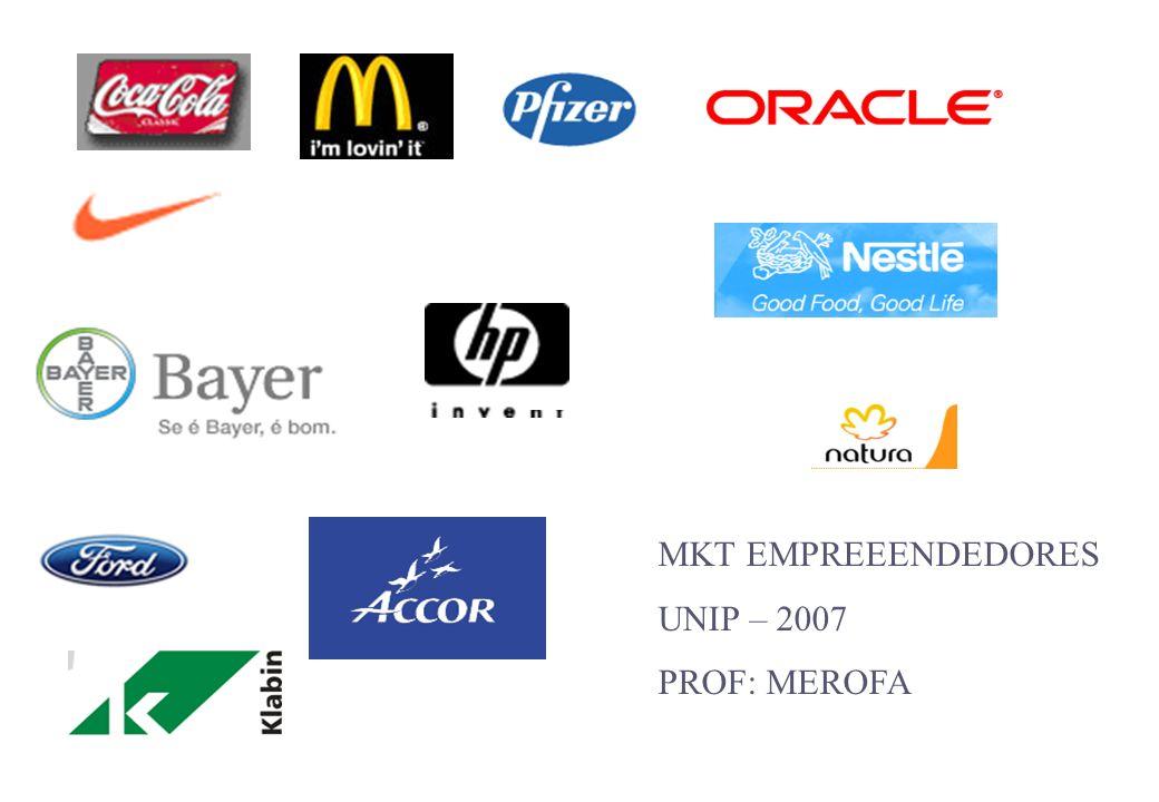 Prof: MEROFA mkt empreendedores Compreender o que o mercado-alvo valoriza.