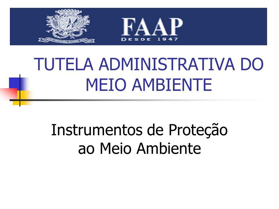 TUTELA ADMINISTRATIVA DO MEIO AMBIENTE Instrumentos de Proteção ao Meio Ambiente