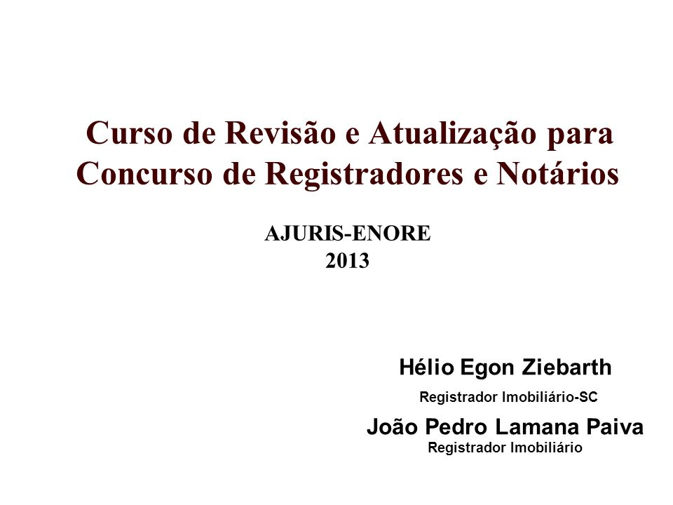 SISTEMAS ESPECÍFICOS DE PUBLICIDADE PESSOAS Registro Civil de Pessoas Naturais.