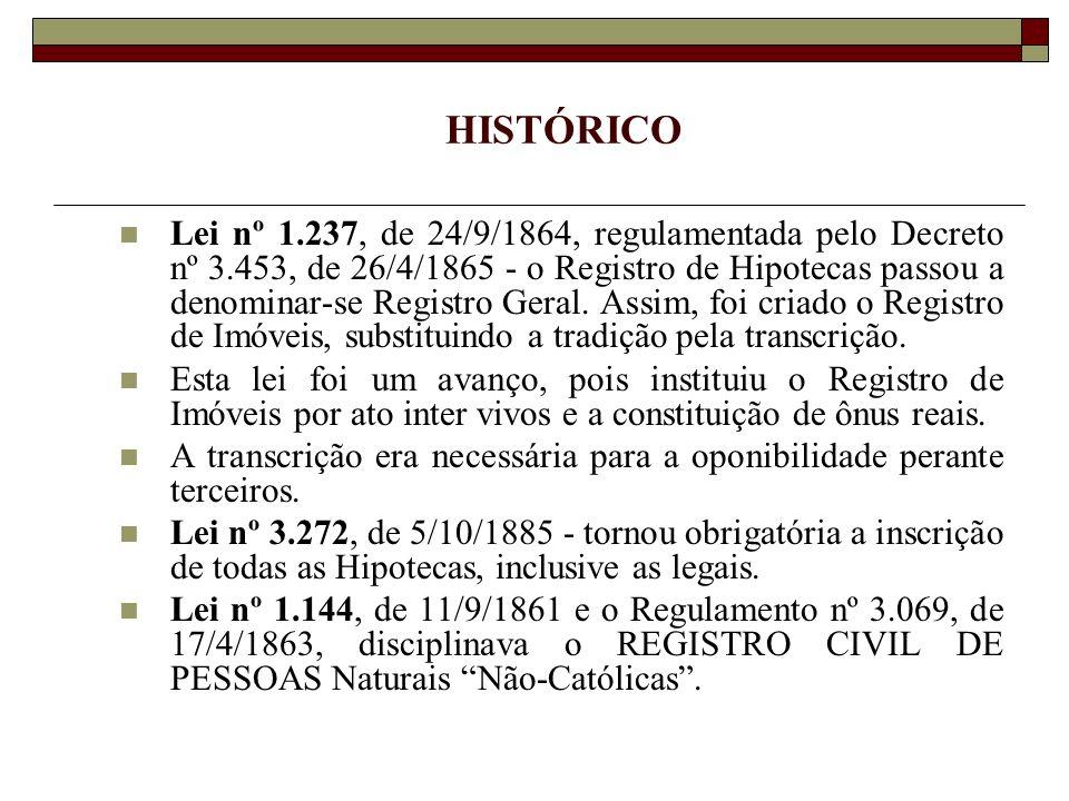 Decreto nº 9.886, de 7/3/1888, criou o Regulamento do Registro Civil, que entrou em vigor em 1º de janeiro de 1889, por força do Decreto nº 10.044, de 22/9/1888, acabando com os registros das pessoas católicas nos livros eclesiásticos.