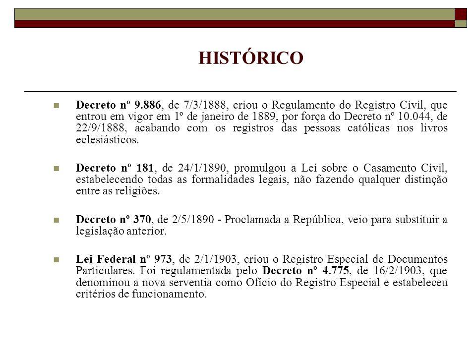 SISTEMA TORRENS Decreto nº 451-B, de 31/5/1890, regulamentado pelo Decreto nº 955-A, de 5/11/1890 e a Lei 6.015/73, artigos 277 e seguintes.