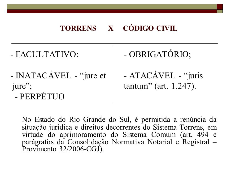 PRINCÍPIOS REGISTRAIS E NOTARIAIS ESPECIALIDADE (arts.