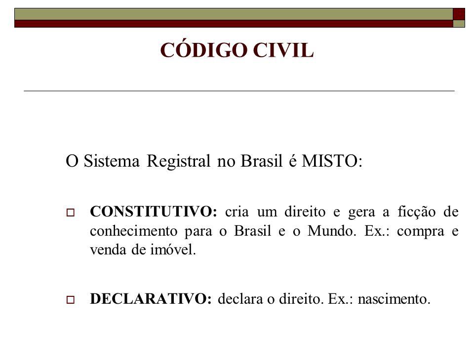 SISTEMA REGISTRAL BRASILEIRO O sistema registral brasileiro é movido por princípios, a exemplo de muitos outros países, destacando-se entre eles, o princípio da territorialidade para fins de registro.