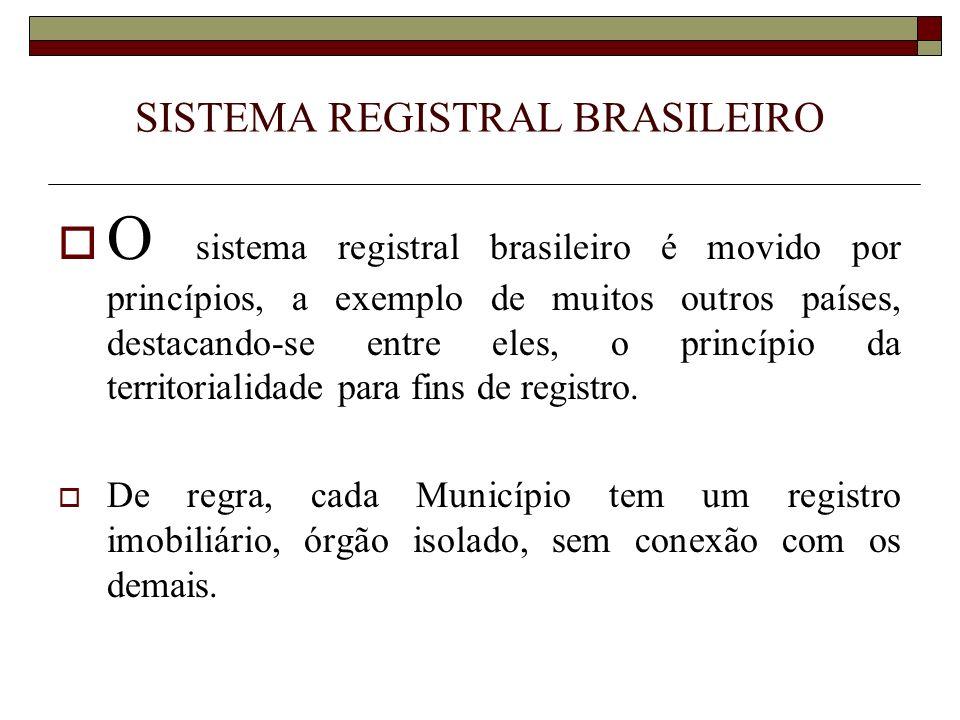 FUNCIONAMENTO DOS SERVIÇOS REGISTRAL E NOTARIAL A competência para a prática dos atos REGISTRAIS é absoluta.