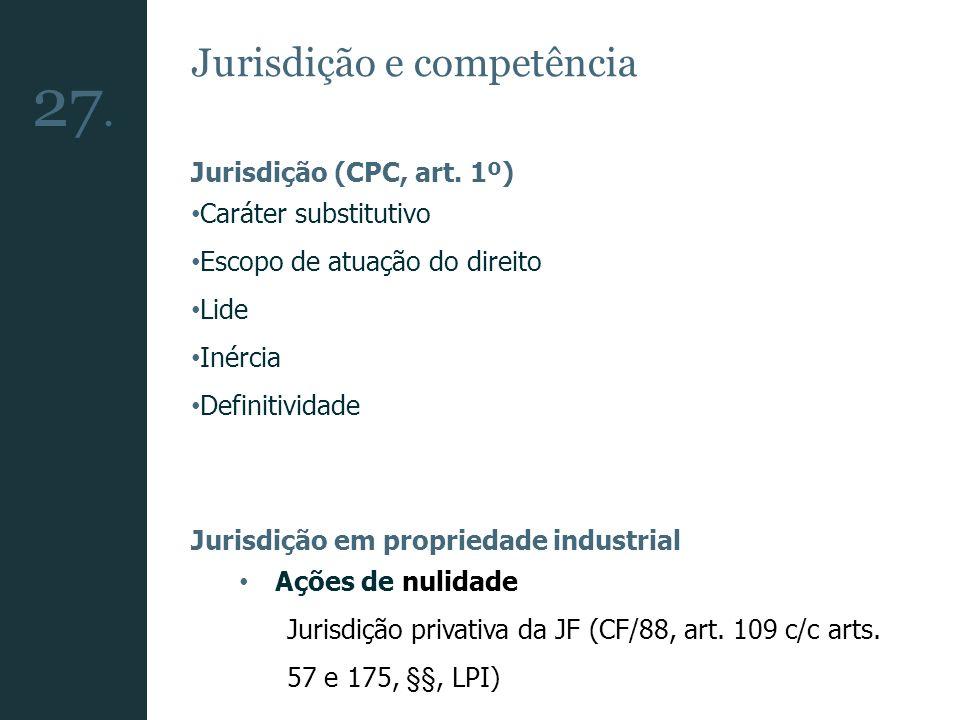Jurisdição e competência Jurisdição (CPC, art. 1º) Caráter substitutivo Escopo de atuação do direito Lide Inércia Definitividade Jurisdição em proprie