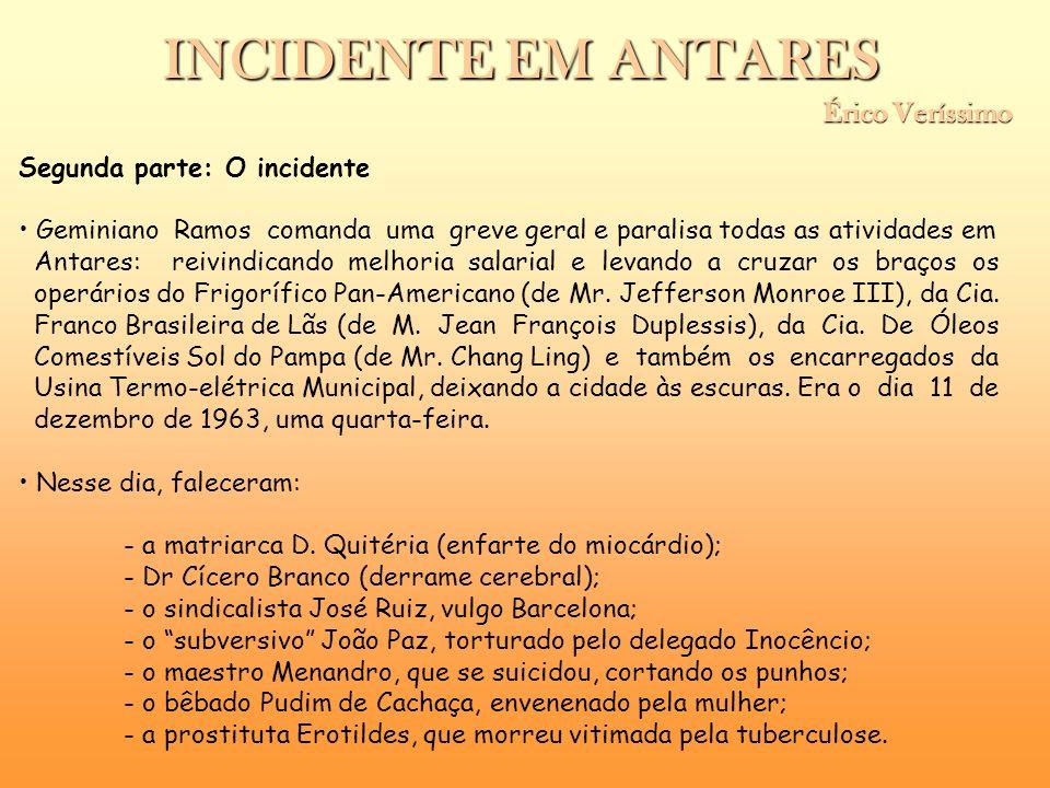 Segunda parte: O incidente Geminiano Ramos comanda uma greve geral e paralisa todas as atividades em Antares: reivindicando melhoria salarial e levand