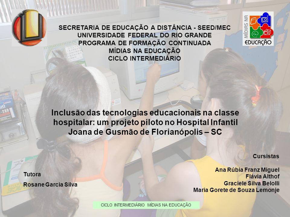 SECRETARIA DE EDUCAÇÃO A DISTÂNCIA - SEED/MEC UNIVERSIDADE FEDERAL DO RIO GRANDE PROGRAMA DE FORMAÇÃO CONTINUADA MÍDIAS NA EDUCAÇÃO CICLO INTERMEDIÁRI
