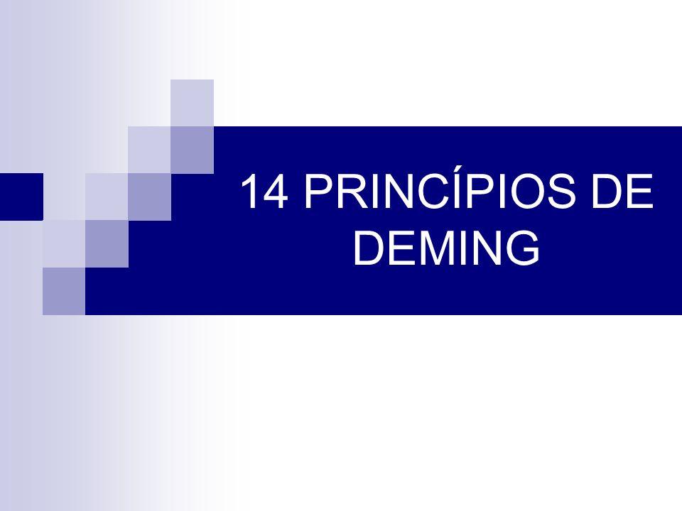 Princípio 1 Estabeleça a constância de propósitos para a melhoria do produto e de serviço, objetivando tornar-se competitivo, manter- se em atividade e criar empregos.