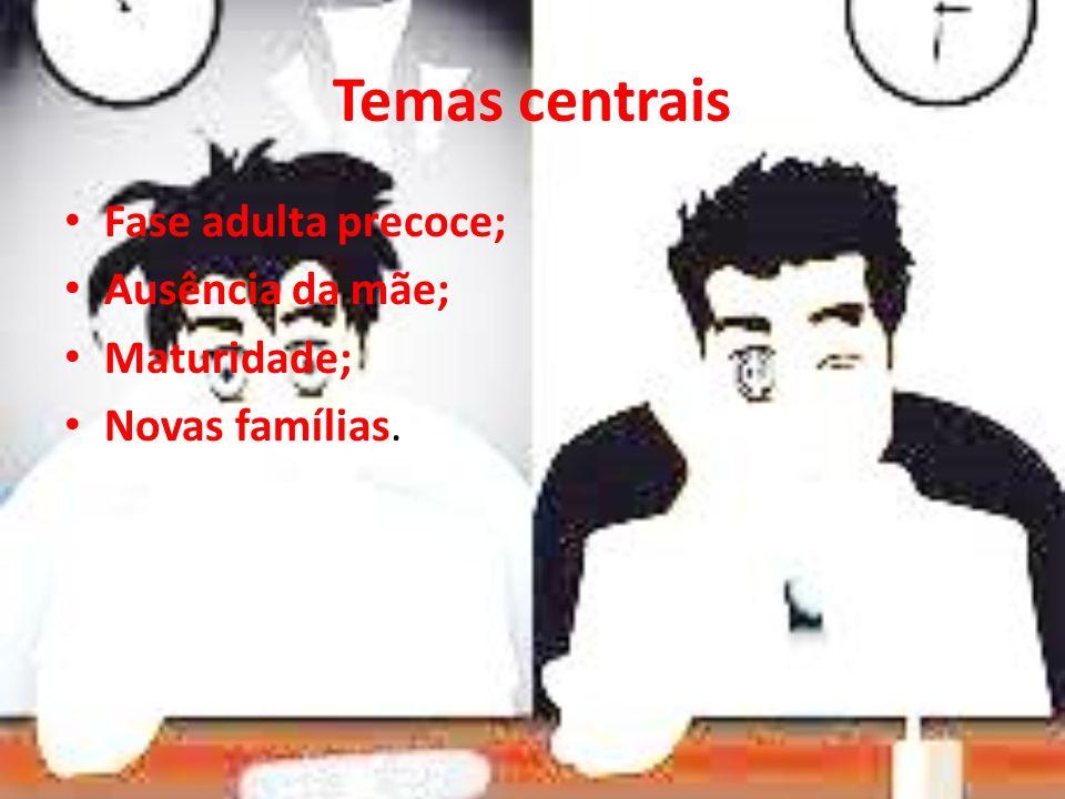 Temas centrais Fase adulta precoce; Ausência da mãe; Maturidade; Novas famílias.