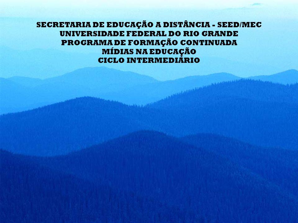 SECRETARIA DE EDUCAÇÃO A DISTÂNCIA - SEED/MEC UNIVERSIDADE FEDERAL DO RIO GRANDE PROGRAMA DE FORMAÇÃO CONTINUADA MÍDIAS NA EDUCAÇÃO CICLO INTERMEDIÁRIO