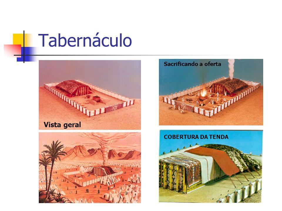 Tabernáculo Vista geral COBERTURA DA TENDA Sacrificando a oferta