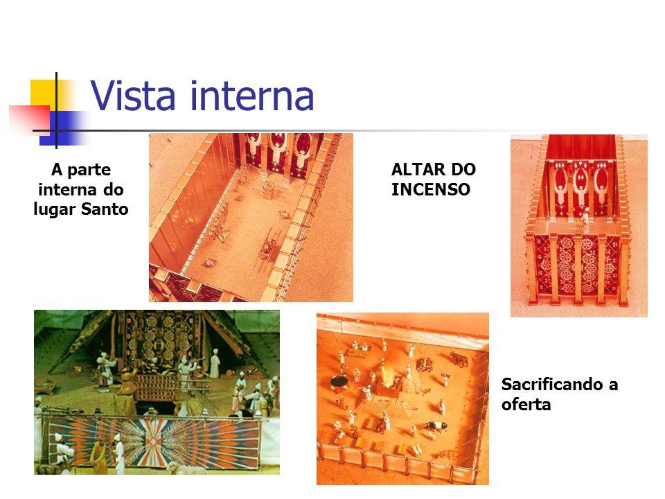 Vista interna A parte interna do lugar Santo ALTAR DO INCENSO Sacrificando a oferta