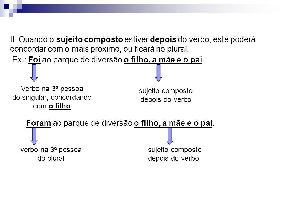 Sujeito representado por nomes próprios na forma do plural: a) precedidos de artigo: verbo concorda com o número do artigo.