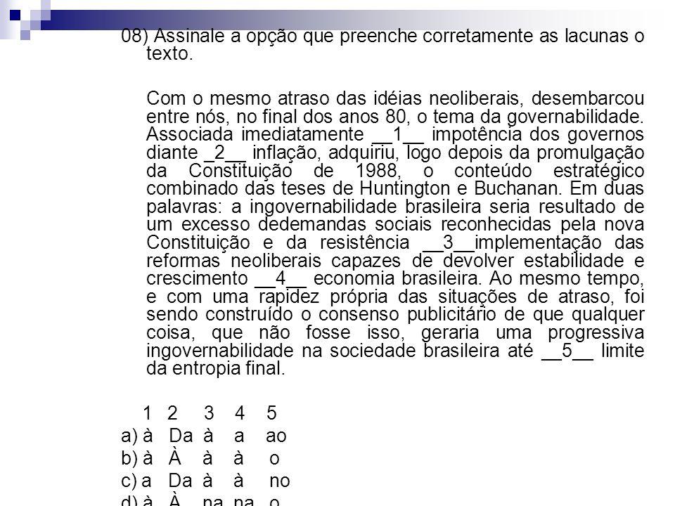 07) O advogado de defesa encaminhou uma apelação. Para fundamentar a apelação, organizou a apelação numa progressão de itens bem articulados. Ainda as