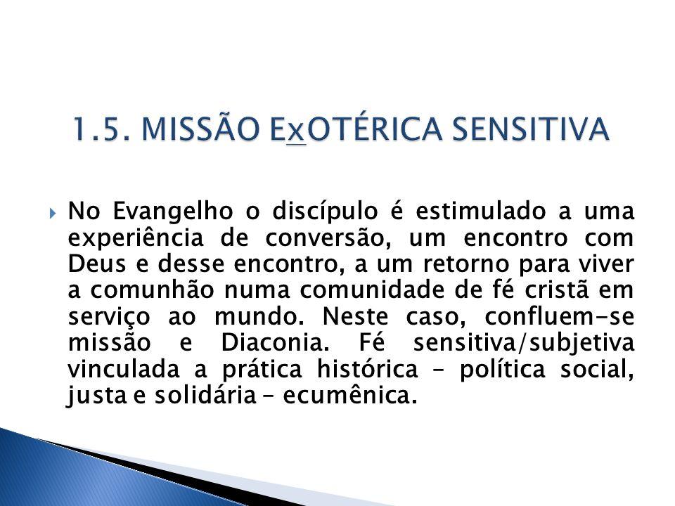 No Evangelho o discípulo é estimulado a uma experiência de conversão, um encontro com Deus e desse encontro, a um retorno para viver a comunhão numa c