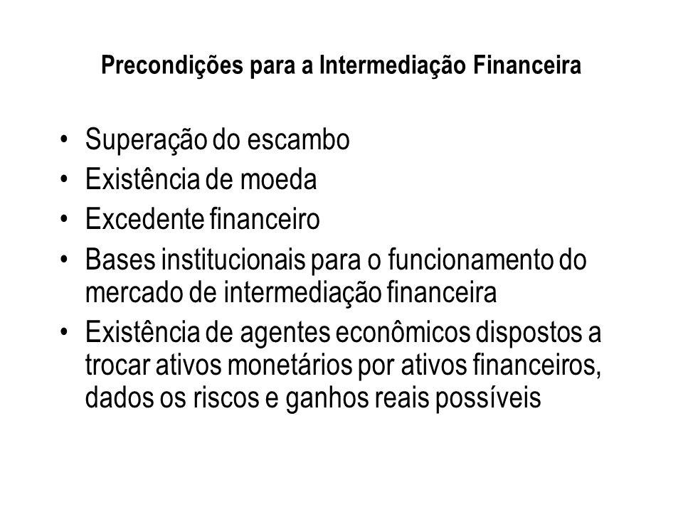 Funções da Intermediação Financeira O processo da intermediação financeira funciona por meio da transferência de recursos entre ofertantes e tomadores.