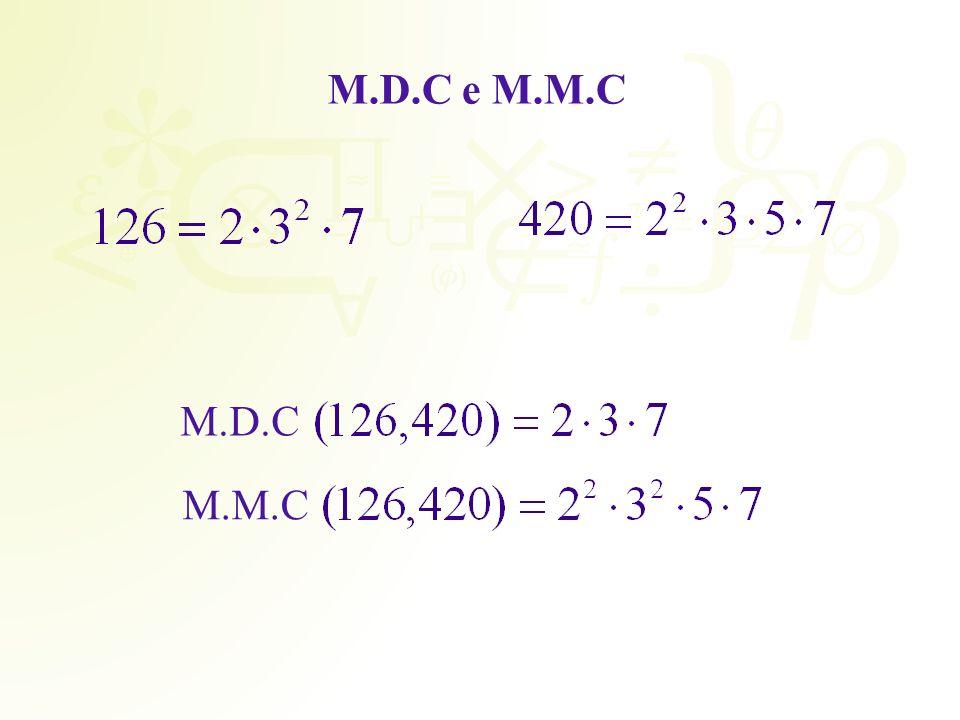 M.D.C e M.M.C M.D.C M.M.C