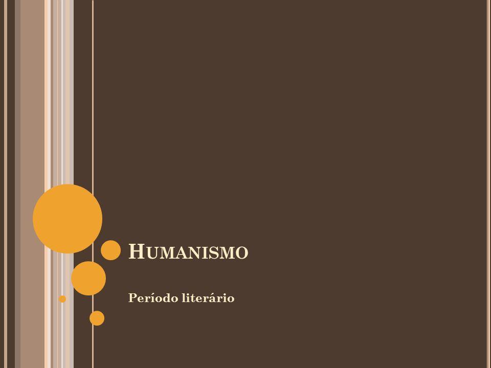 A NTROPOCENTRISMO HUMANISMO
