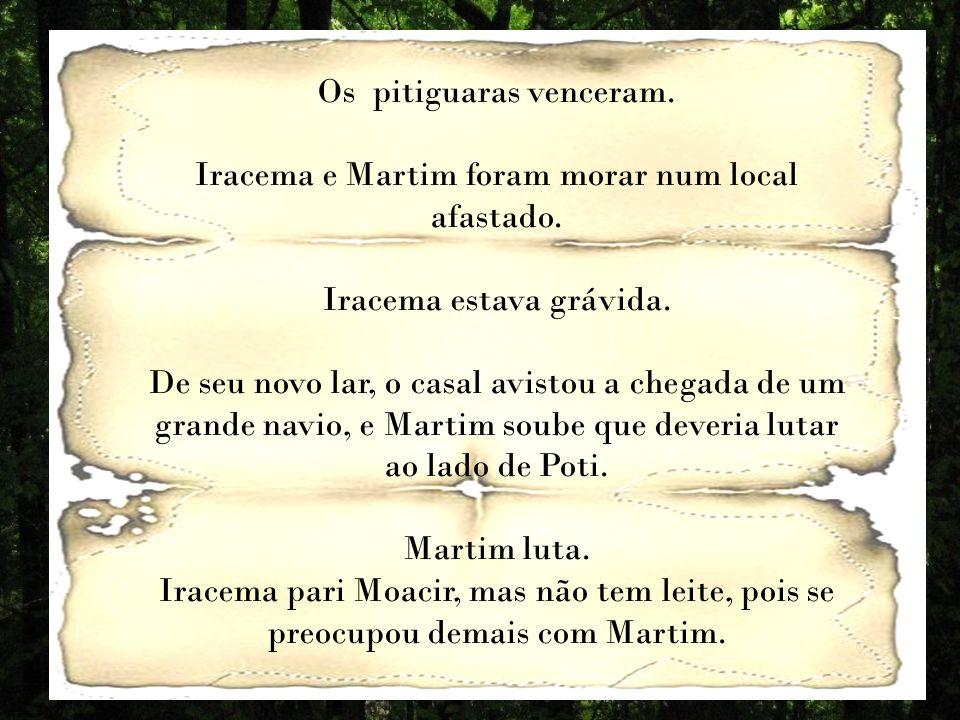Os pitiguaras venceram.Iracema e Martim foram morar num local afastado.